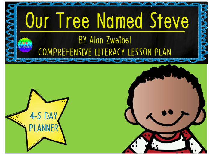 Our Tree Named Steve by Alan Zweibel 4-5 Day Lesson Plan