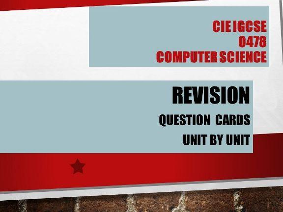 Computer Science GCSE 0478- One mark Questions - Unit 3 The Processor