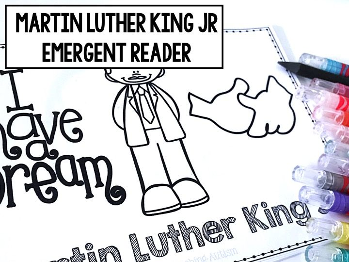Martin Luther King Jr Emergent Reader Book