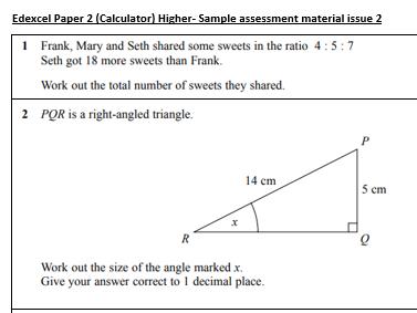 Edexcel GCSE Maths Sample Higher Paper 2 (ink saving)