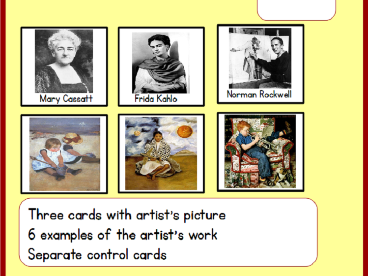 Comparing Artists - Montessori Art Cards