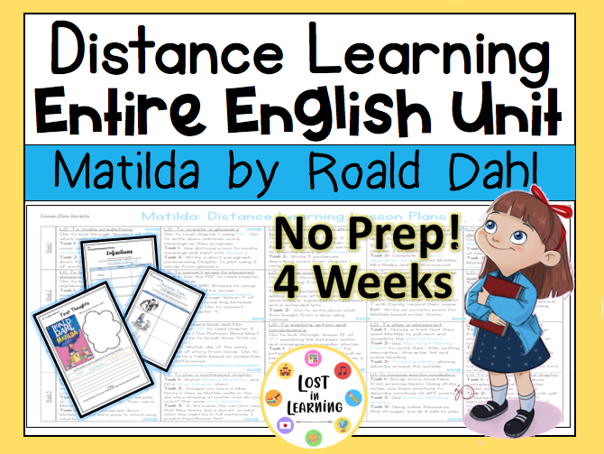 Matilda: Distance Learning English Unit
