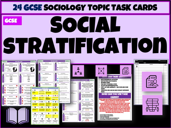 Social Stratification Sociology Task Cards