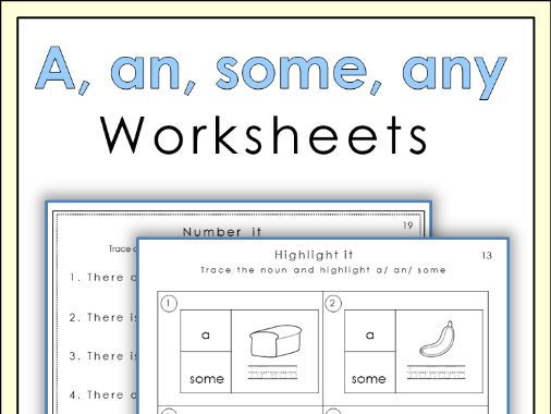 A An Some Any Worksheets By Missjelena Teaching Resources Tes