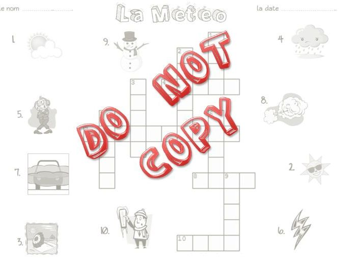 La Meteo - French Weather Vocab Pack