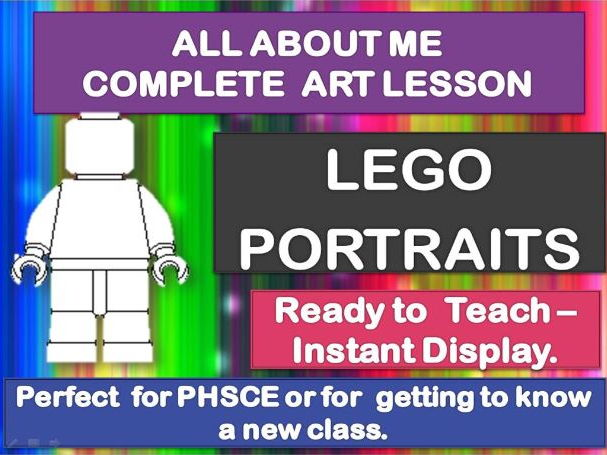 ALL ABOUT ME - COMPLETE ART LESSON - LEGO PORTRAITS