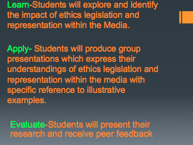 REpresentation in Media-Lesson Presentation Structure.