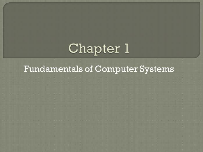 GCSE Computing: Chapter 1 - Fundamentals of Computer Systems (Revision)