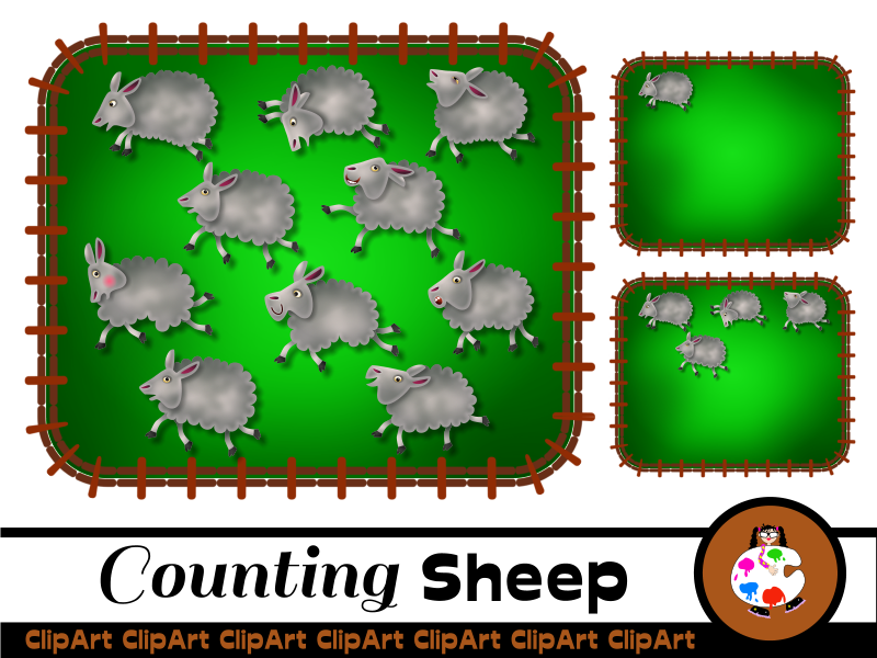 Printable Counting Sheep Activity