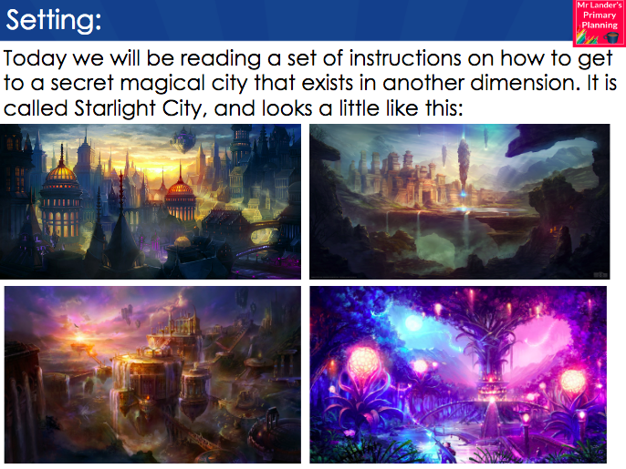 Y3/4 Reading Retrieval - Instructional Text: How to Get to Starlight City