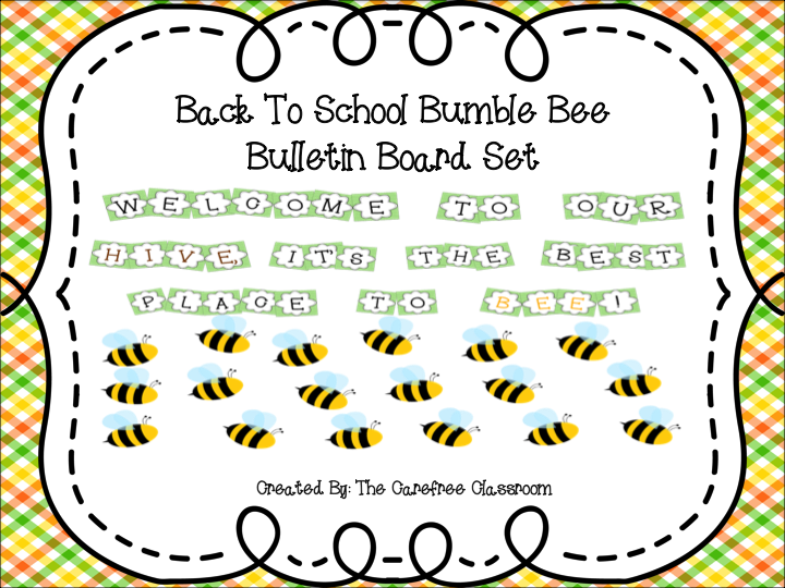 Bulletin Board Set: Bee Hive Back To School Set