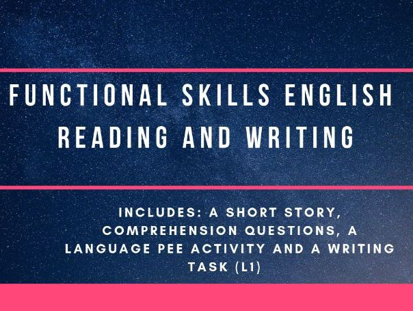Functional Skills reading and writing activities