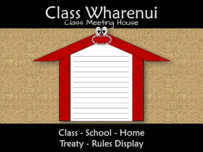 Waitangi Day Wharenui Meeting House for Class Treaty Rules New Zealand Te Reo
