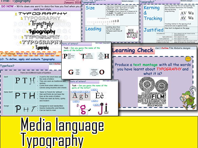 Media Language Typography