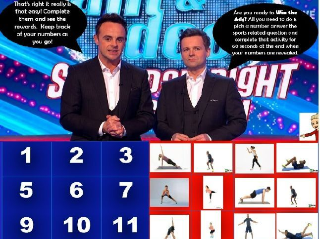 Revision and Home Learning PE: Saturday Night Takeaway