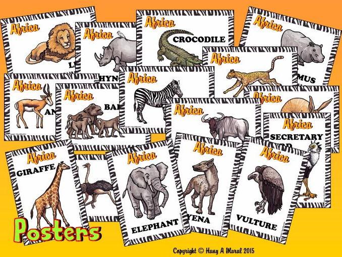 African Safari Class Posters