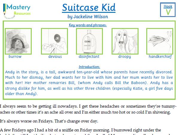 Suitcase Kid by Jackeline Wilson Comprehension Year 4/5