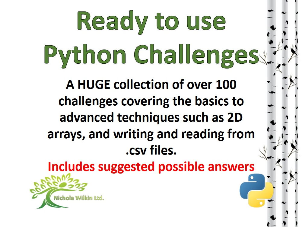Over 100 Python Programming Challenges
