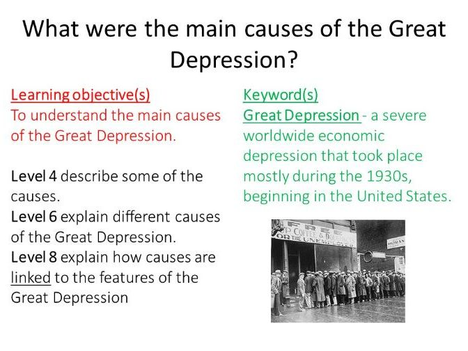 Edexcel iGCSE causes of the Great Depression