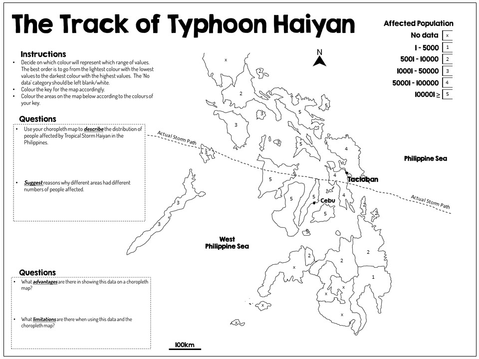 Typhoon Haiyan: Numbers Affected Worksheet