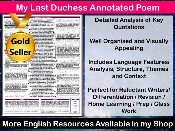 My Last Duchess Annotated Poem