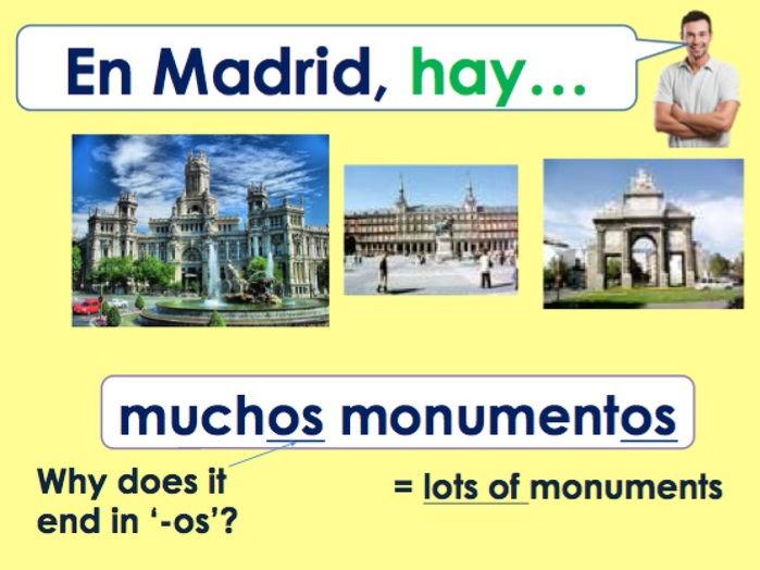 KS3 Spanish - ¿Qué hay en la ciudad? / ¿Qué hay en Madrid?