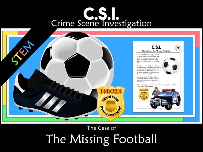 CSI Math Mystery - The Missing FIFA Football Cup 2018 Soccer