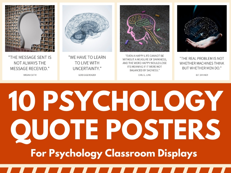 10 Psychology Quote Posters - Great for Psychology Class Wall Displays