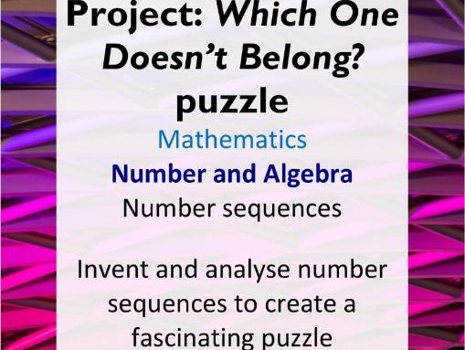 Project: WODB number sequences - AC Year 5 Maths - Number and Algebra (number sequences)