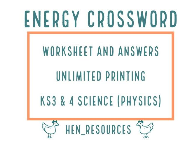 Energy Crossword and Answers