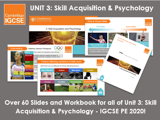 Complete Unit 3: Skill Acquisition & Psychology - IGCSE Physical Education
