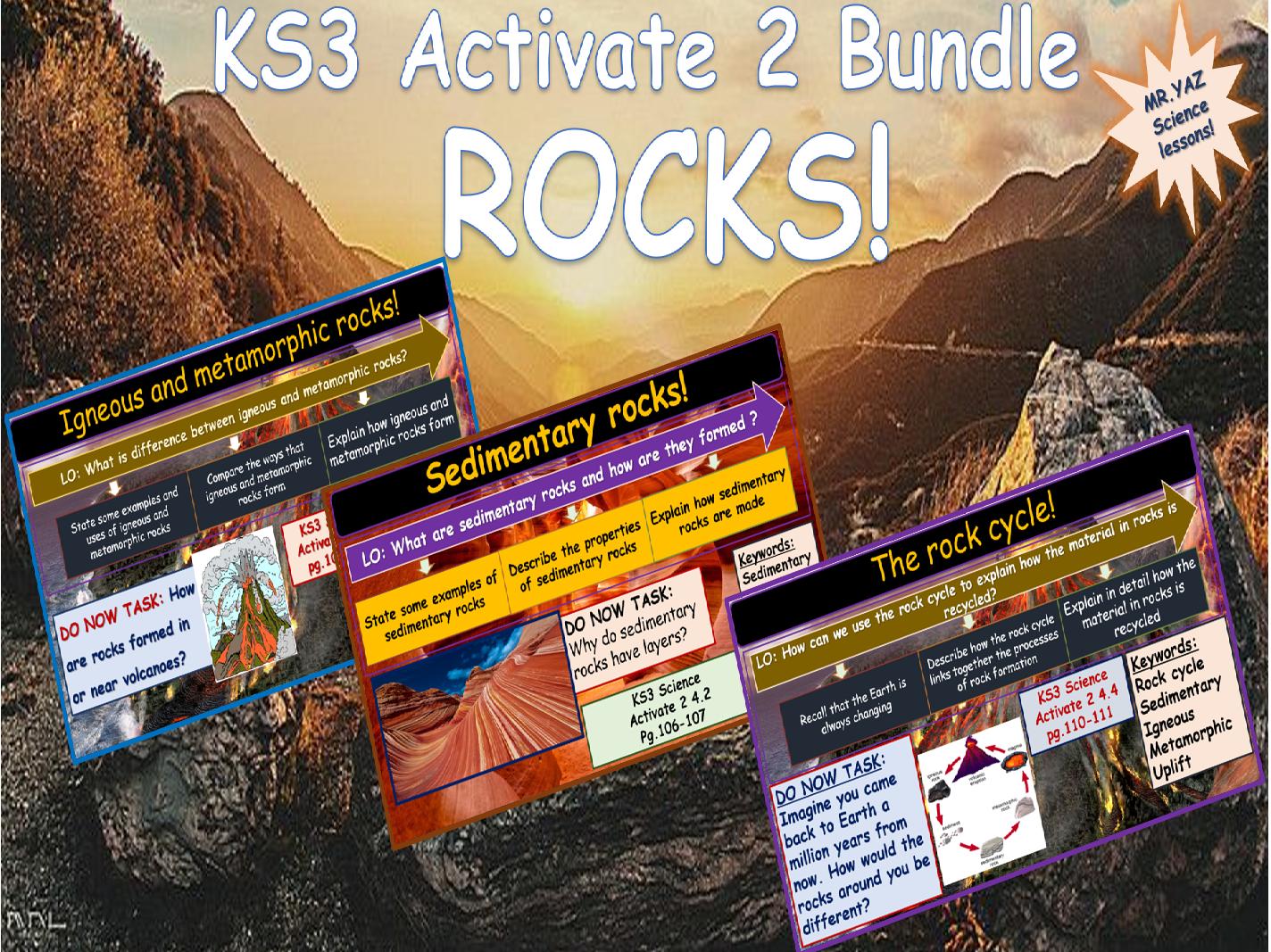 Rocks bundle Activate 2 KS3 Science