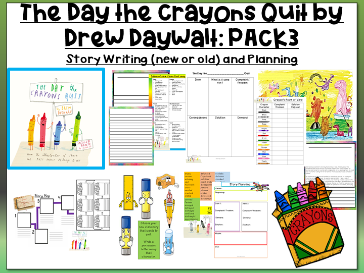 The Day the Crayons Quit by Drew Daywalt- Story Planning and Writing