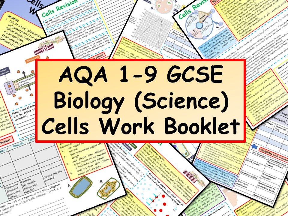 AQA 1-9 GCSE Biology (Science) Cells Work Booklet
