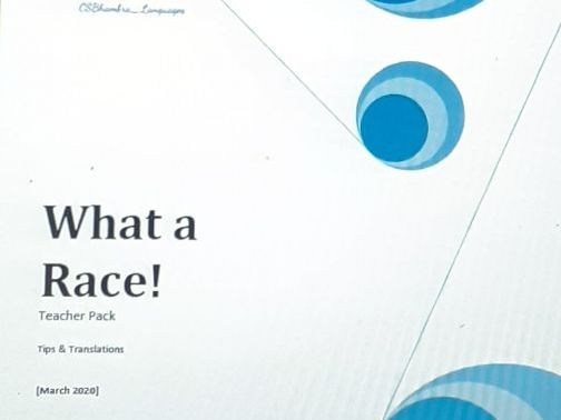 What a race French sports Teacher Pack