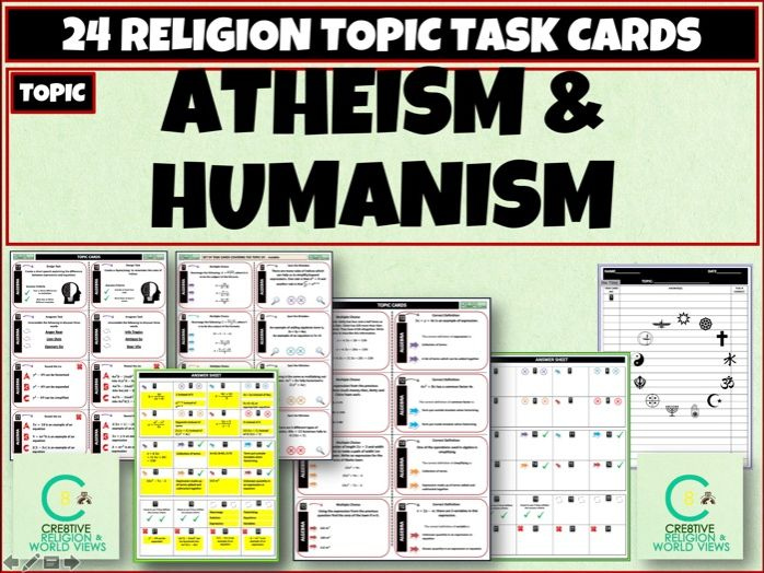 Atheism and Humanism Task cards