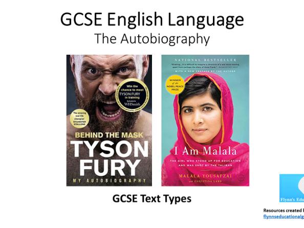 GCSE Text Types: The Autobiography