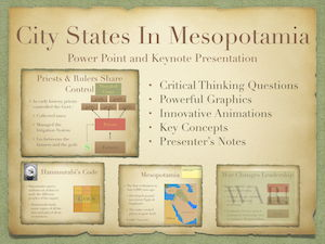 Development of City-States In Mesopotamia PowerPoint and Keynote Presentations