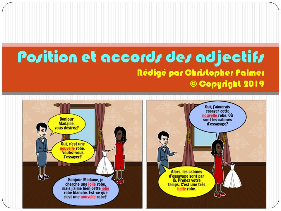 French: Position and agreement of adjectives (Key Stage 3)