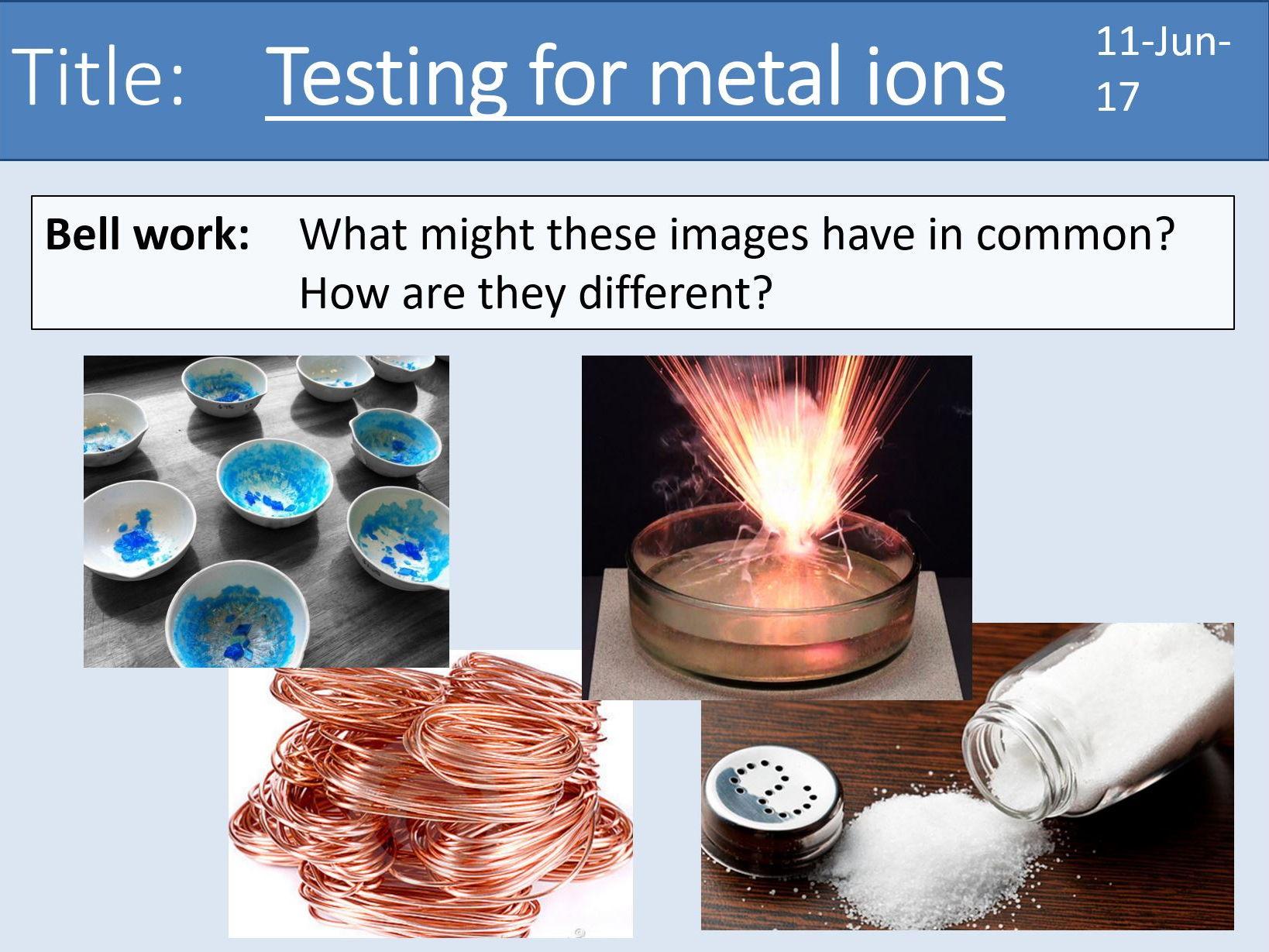 Year 7 Metals - 7 lesson bundle