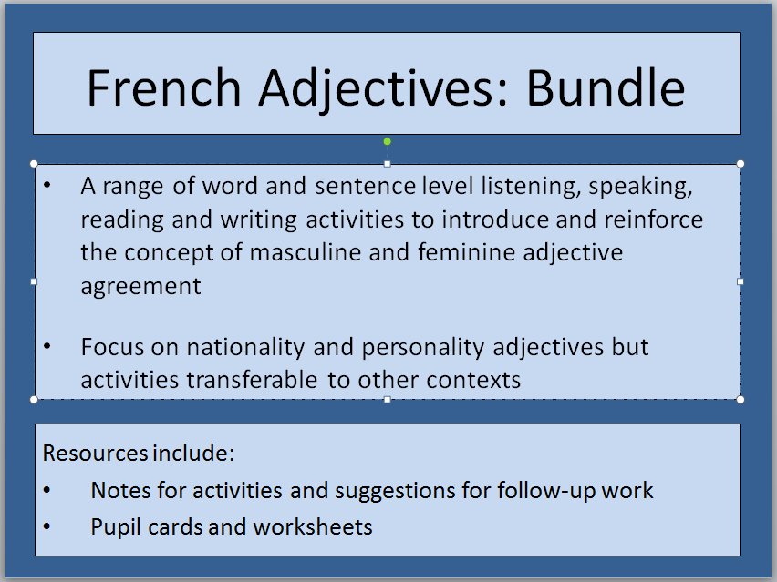 Online French Classroom