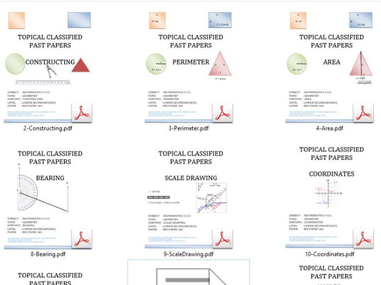 KS3 Mathematics Past Paper Questions_Geometry