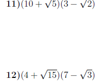 Surds worksheet no 5 (with solutions)
