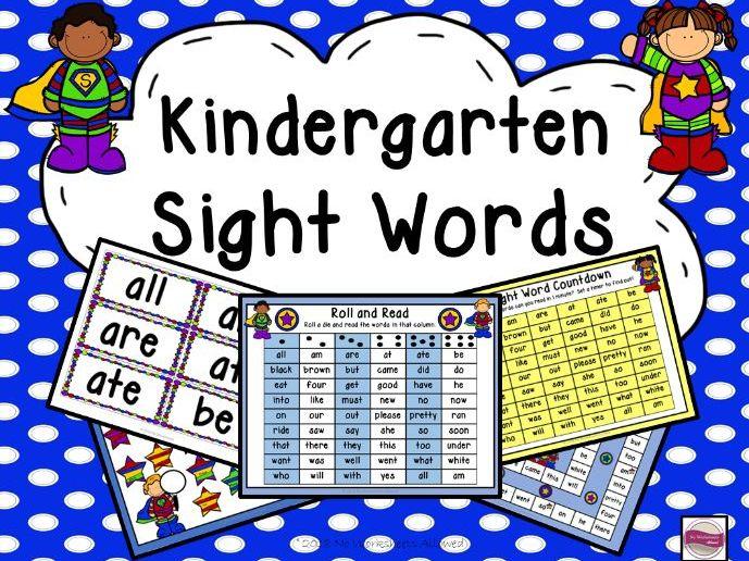 Kindergarten Sight Word Games & Activities: Superhero Theme