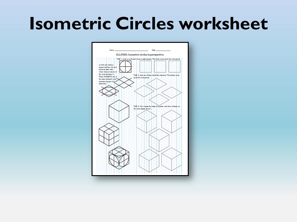 Isometric circles & ellipses work sheet