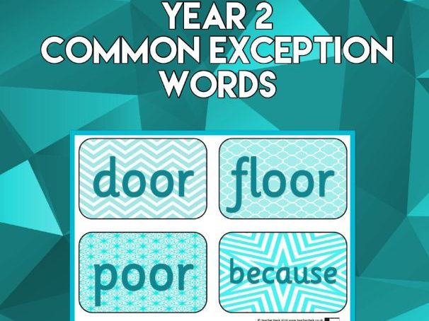 Year 2 Common Exception Words Display