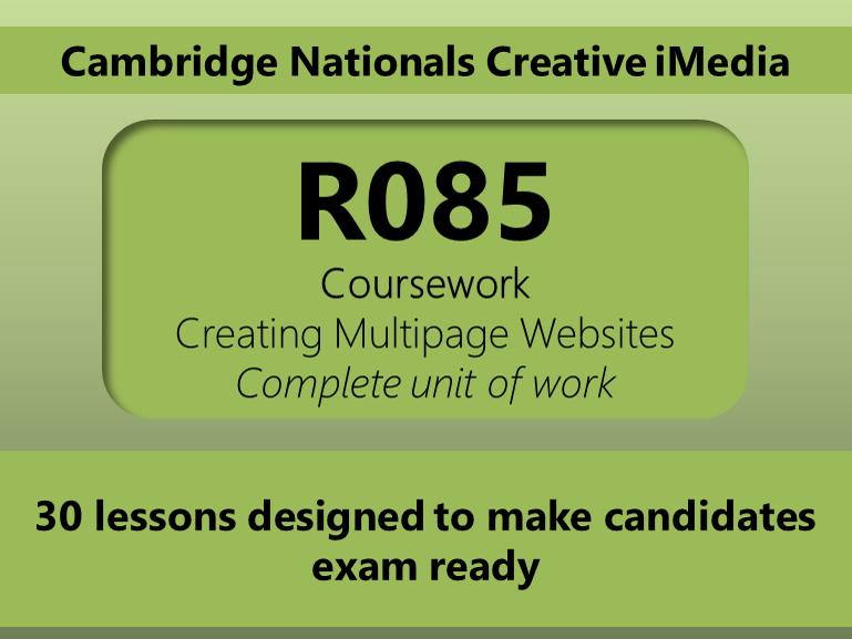 Creative iMedia R085 Unit of work (Ecofest)