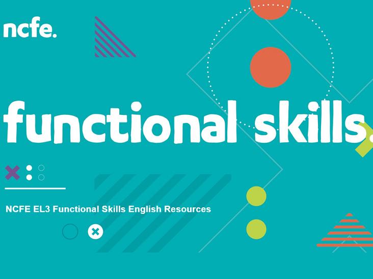 NCFE EL3 Functional Skills English Resources