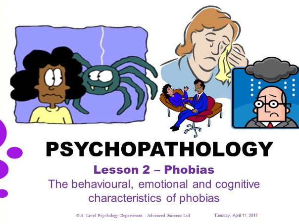 Powerpoint - Psychopathology - Lesson 2 - Phobias - Characteristics of phobias