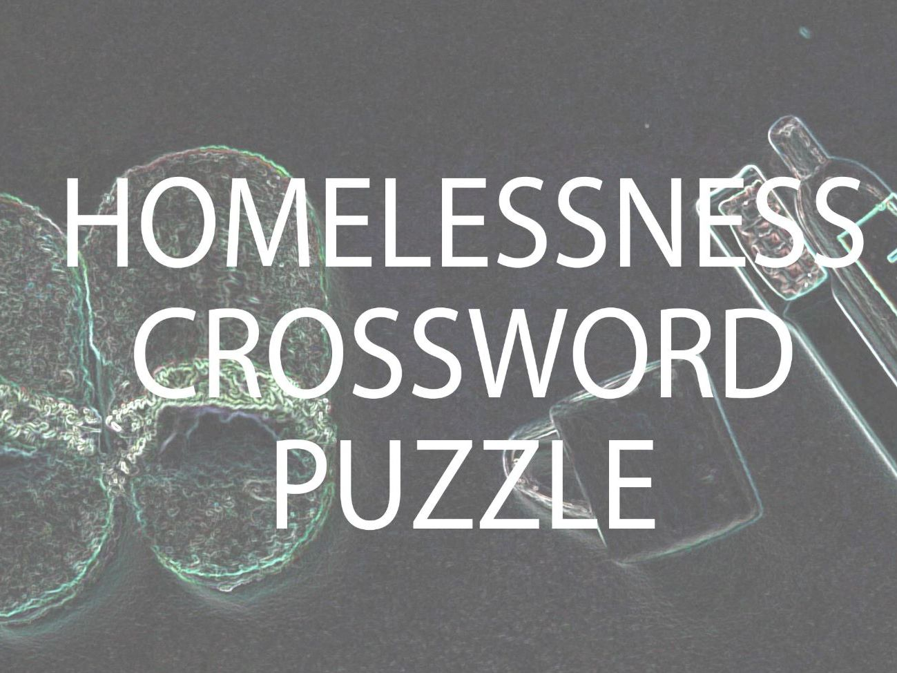 Diversity, Homelessness and Modern Slavery Crossword and Lesson Bundle